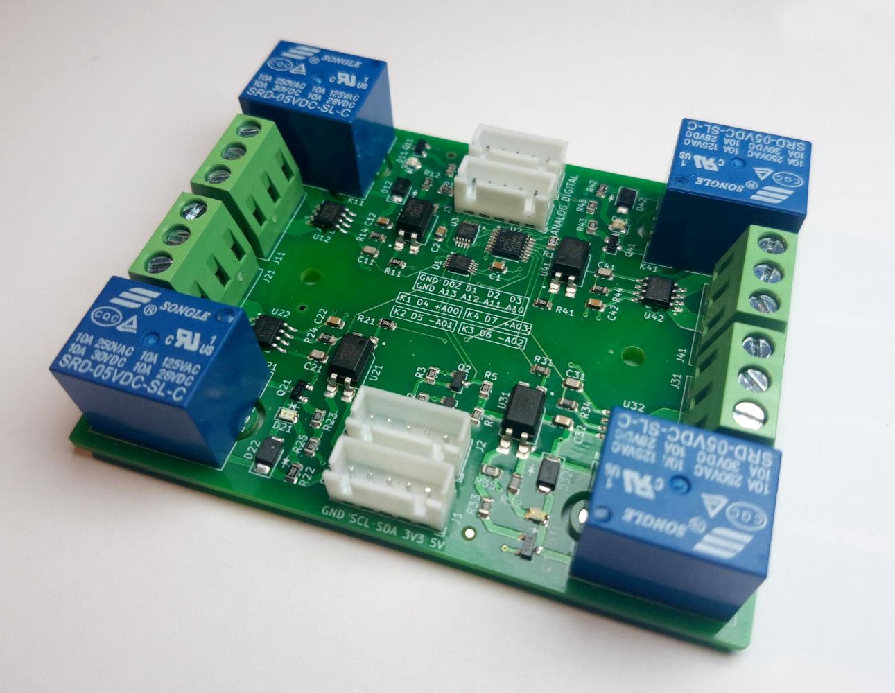Design And Assembly Of An I2C Relay PCB